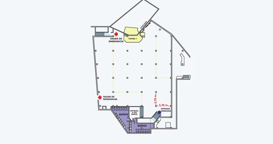 Plano Salon Canaima - Hotel Pipo