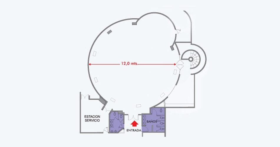 Plano Salon Federico - Hotel Pipo