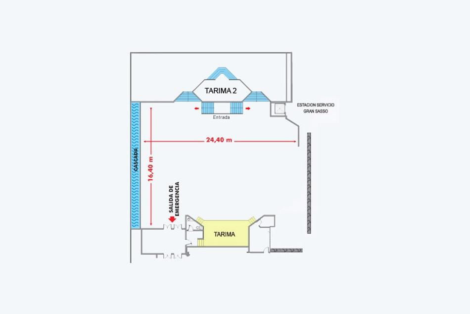 Salones hotel pipo internacional for Planos de salones