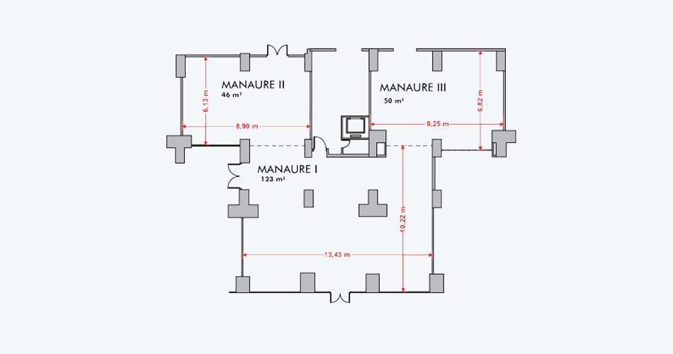 Plano Salon Manaure - Hotel Pipo