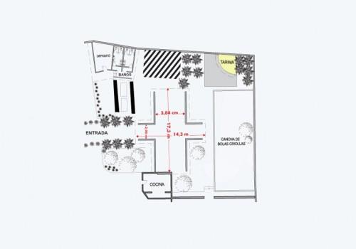 Plano Salon Turiamo - Hotel Pipo